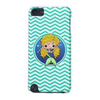 Mermaid Aqua Green Chevron iPod Touch (5th Generation) Covers