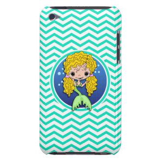 Mermaid Aqua Green Chevron iPod Case-Mate Cases