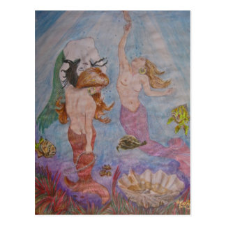 Mermaid art designs by Penfield Hondros Postcard
