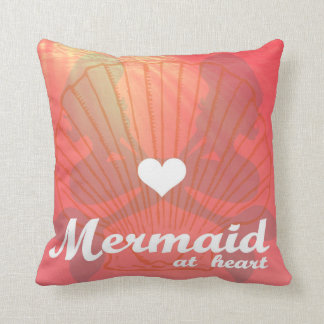 Mermaid At Heart Throw Pillow
