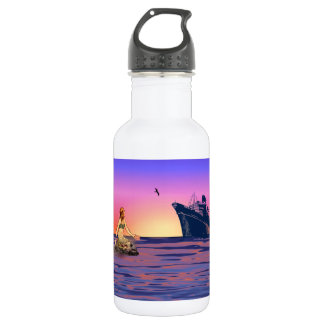 Mermaid at sunset 532 ml water bottle