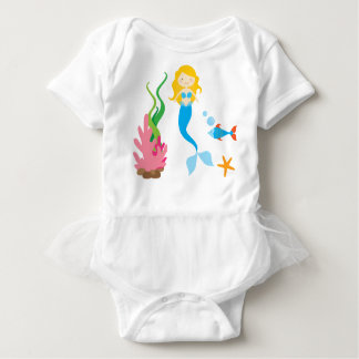 Mermaid Baby Bodysuit Tutu