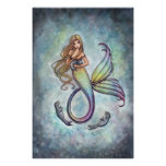 Mermaid Baby Seals Poster Print by M. Harrison