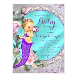 Mermaid Baby Shower 17 Cm X 22 Cm Invitation Card