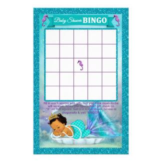 Mermaid Baby Shower Bingo Game Card #136