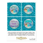 Mermaid Baby Shower Cupcake Topper Favour Tags 130 Postcard
