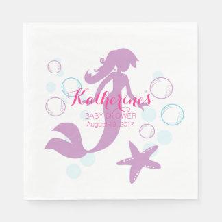 Mermaid Baby Shower Party Event Disposable Serviette