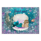 Mermaid Baby Shower Thank You Cards