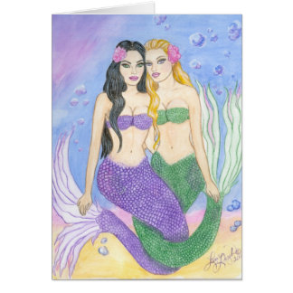 Mermaid Best Friends Card