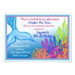 Mermaid Birthday Invitations 13 Cm X 18 Cm Invitation Card