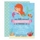 Mermaid Birthday Party Card