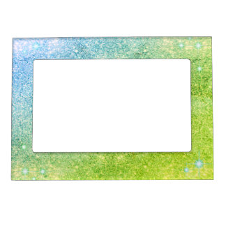 Mermaid Blue Green Glitter Sparkle Faux Sea Magnetic Picture Frame