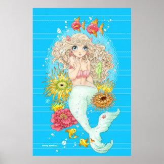 Mermaid (blue) poster