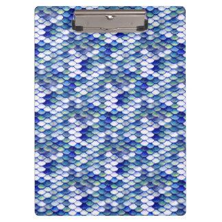 Mermaid Blue Skin Pattern Clipboard