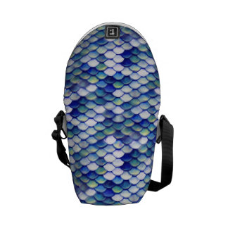 Mermaid Blue Skin Pattern Courier Bags