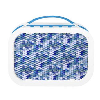 Mermaid Blue Skin Pattern Lunch Box