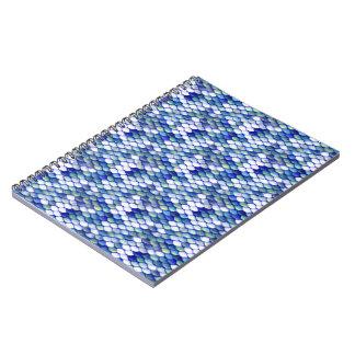 Mermaid Blue Skin Pattern Notebook