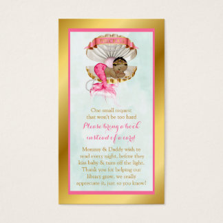 Mermaid Book Request Shell African American Business Card