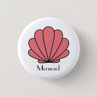 Mermaid bottom 3 cm round badge