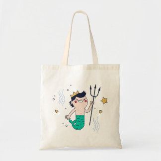 Mermaid Boy Young Merman Tote Bag