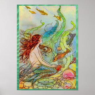 Mermaid by Elenore Abbott Poster