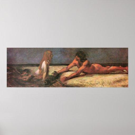 Mermaid by Franz von Stuck Print
