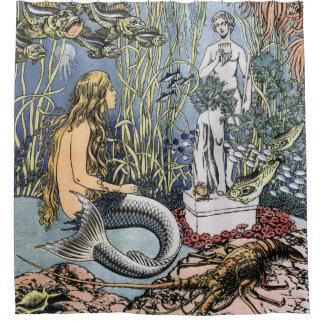 Mermaid by Ivan Bilibin Shower Curtain