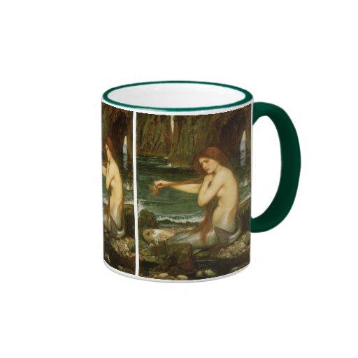 Mermaid by JW Waterhouse, Victorian Mythology Art Coffee Mug