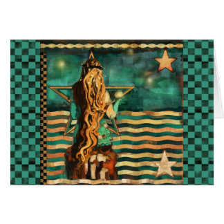 Mermaid by the Sea Blank to Personalize Card