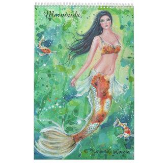 Mermaid calendar fantasy portraits by Renee Lavoie