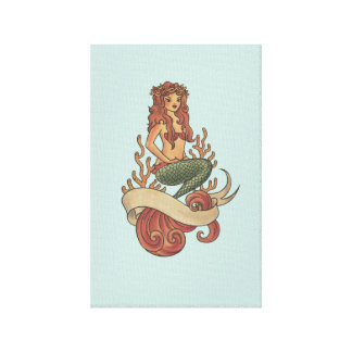 mermaid canvas print