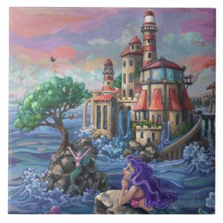 Mermaid Castle Ceramic Tile