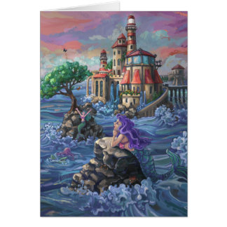 Mermaid Castle Greeting Card