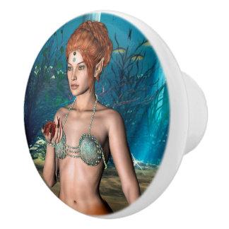 Mermaid Ceramic Knob