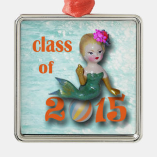 Mermaid class of 2015, altered art Silver-Colored square decoration