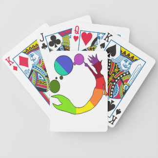 Mermaid Color Wheel Bicycle Playing Cards
