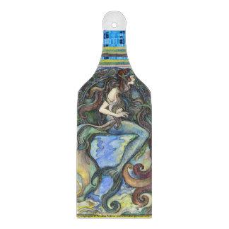 """Mermaid"" Decorative Glass Chopping Board Paddle"