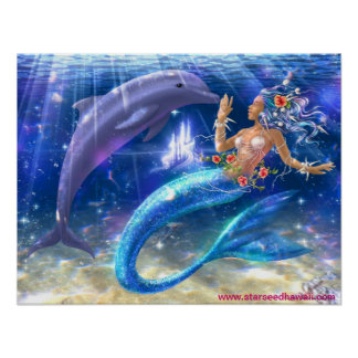 Mermaid/Dolphin Poster