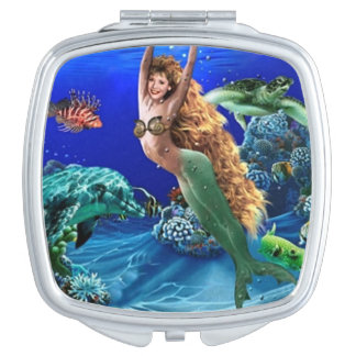 Mermaid, Dolphin, Turtle and Fish Mirrors For Makeup