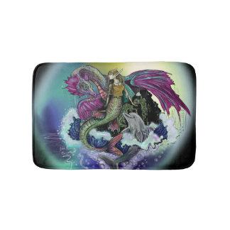 Mermaid, Dragon,&Dolphin Bath Mat