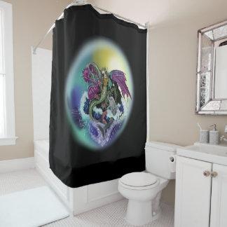 Mermaid, Dragon,&Dolphin Shower Curtain