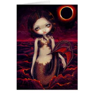 """Mermaid Eclipse"" Greeting Card"