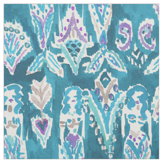 MERMAID FANTASEA Whimsical Nautical Watercolor Fabric