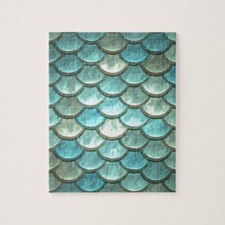 Mermaid Fish Scale Dragon Scale Jigsaw Puzzle