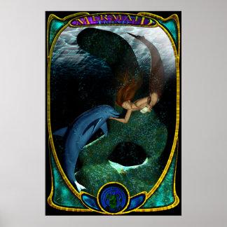 Mermaid & Friend Poster