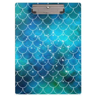 Mermaid Galaxy Pattern Clipboards