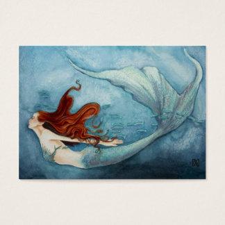 Mermaid Gift Tag Red B3