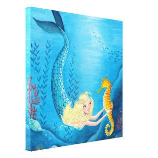 Mermaid Girl - Canvas