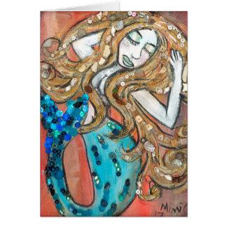 Mermaid Greeting Card (Customizable)