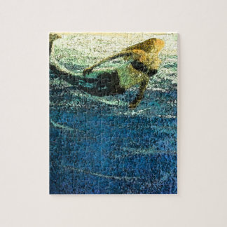 Mermaid Greeting the Dawn Jigsaw Puzzle